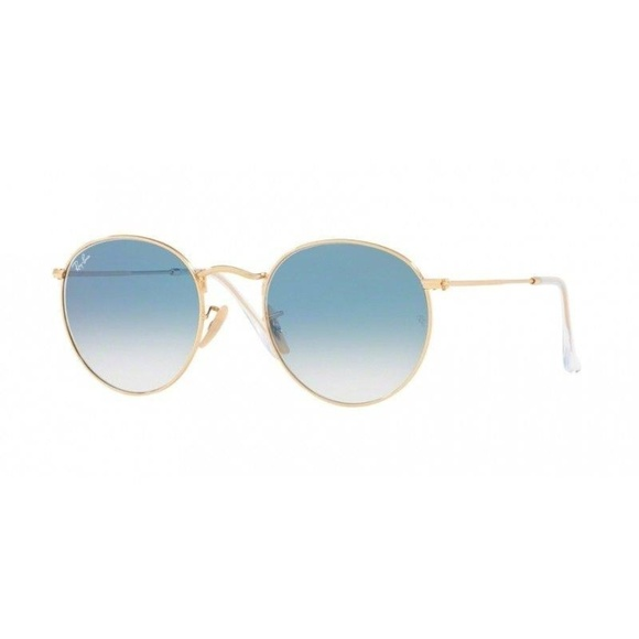 46c384d2adbde Ray-Ban 3447N 001 3F Lenses Gold Blue Sunglasses